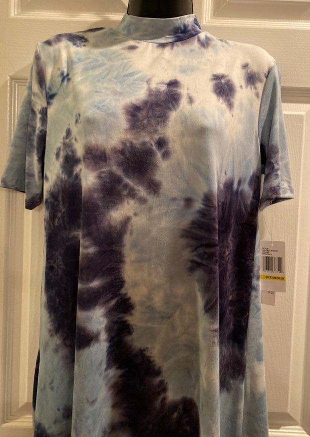 Tie Dye Mock Tee Shirt