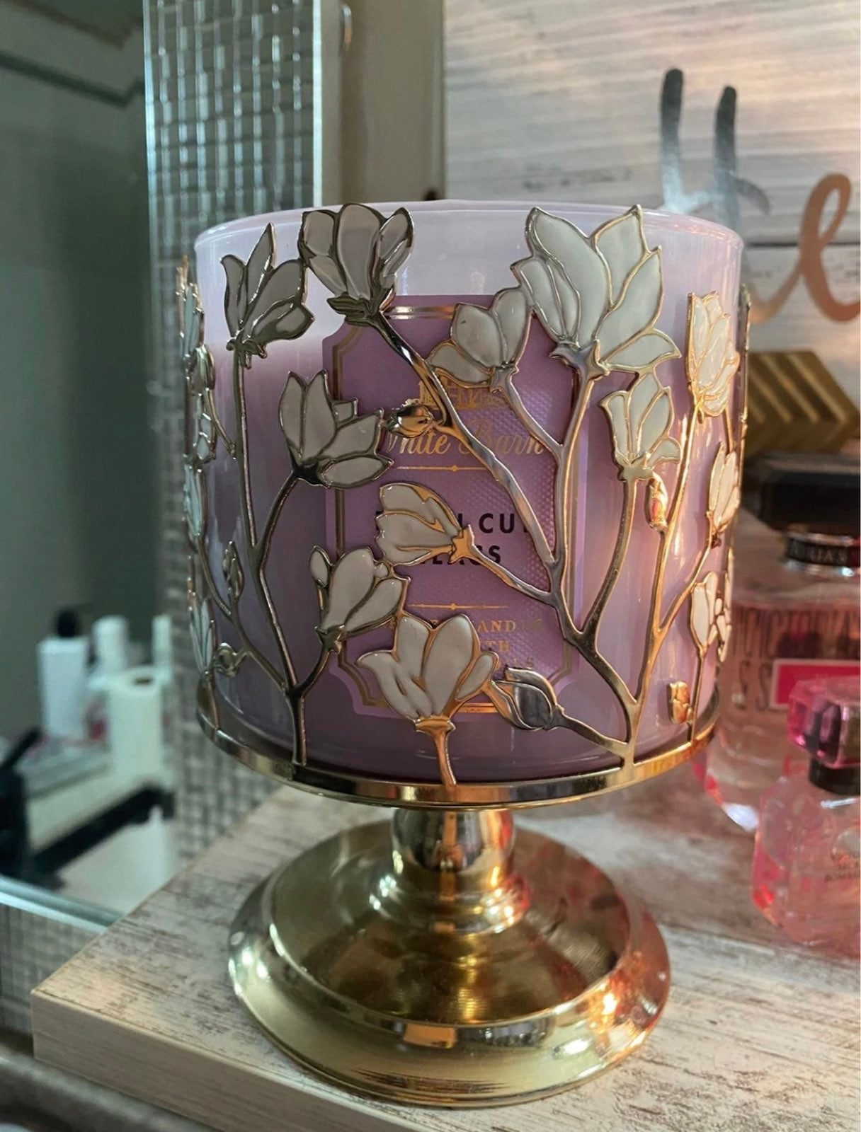 Bath & Bodyworks Flower Candle Holder