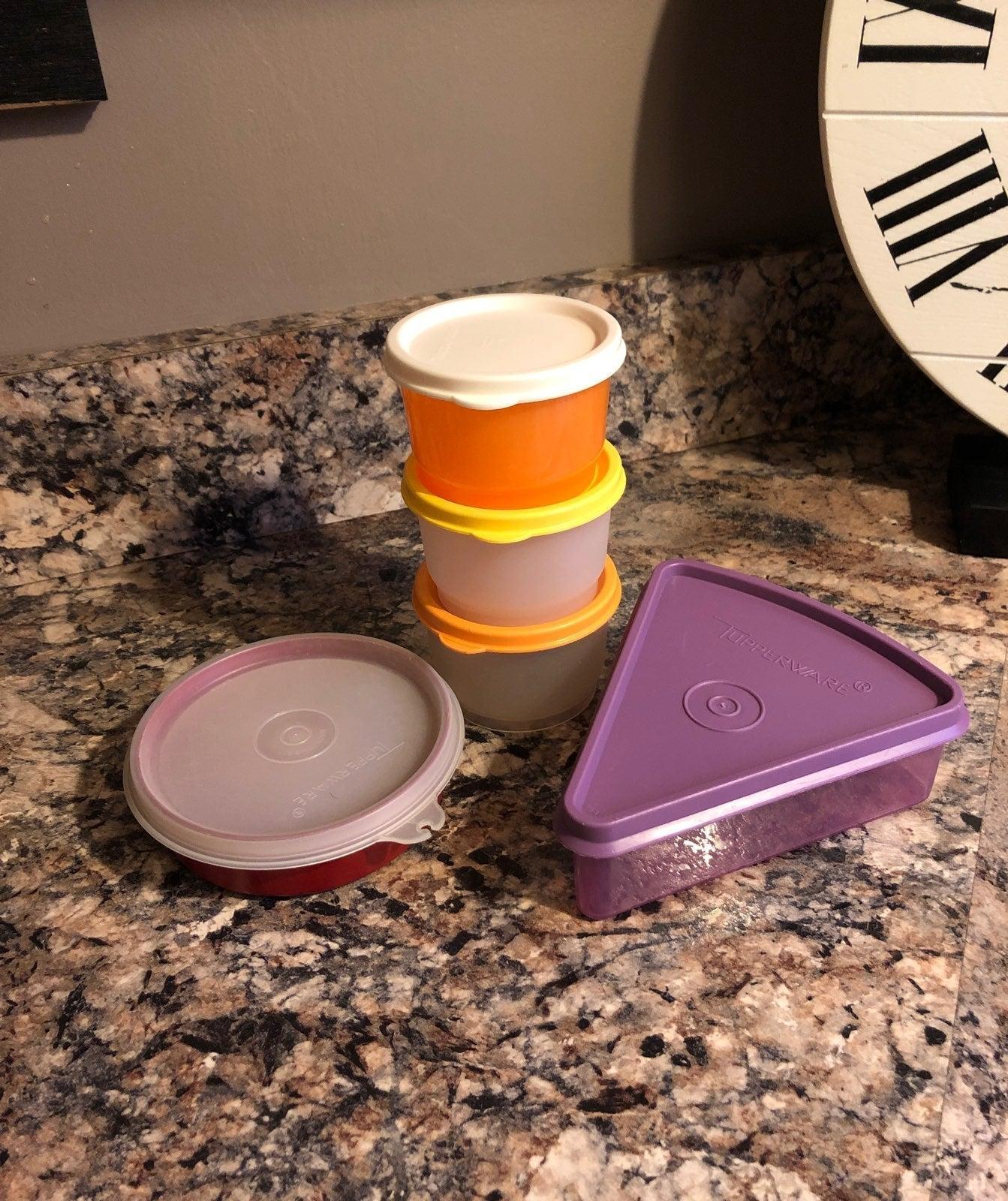 5 Piece Assorted Tupperware