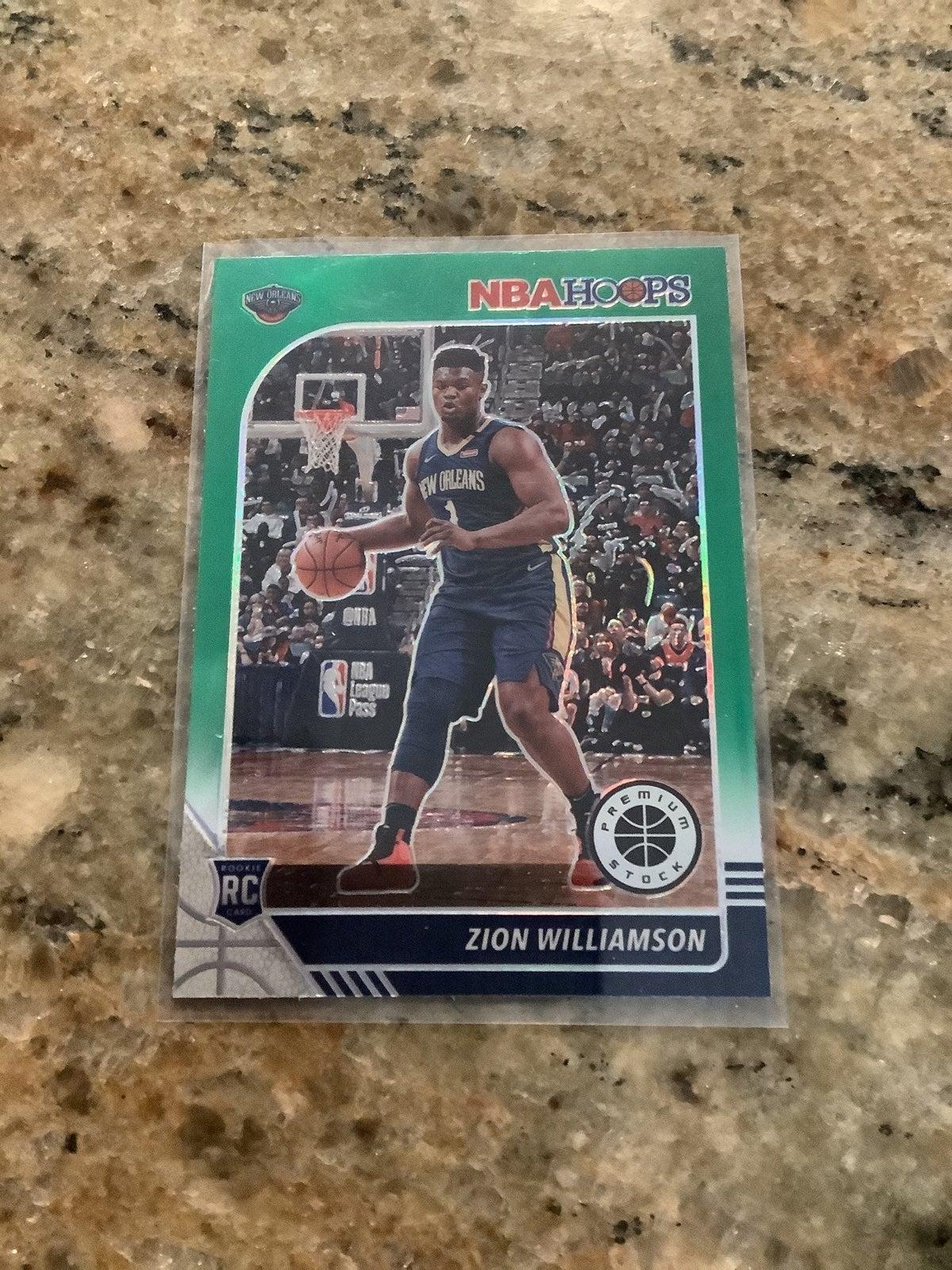 Zion Williamson green 2019-20 Hoops