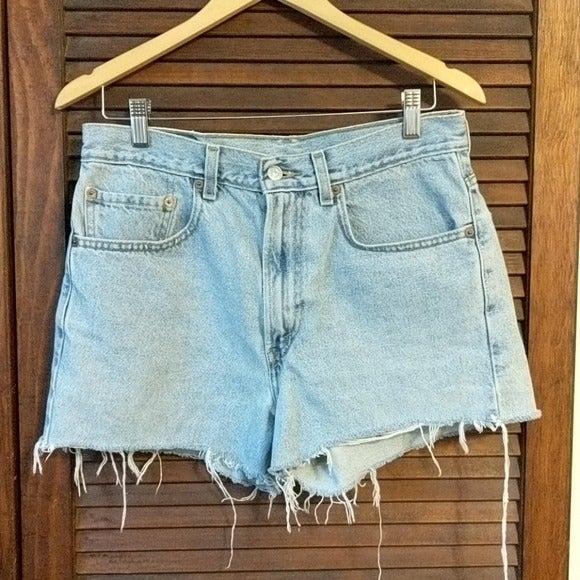 Levi's 505 Cut Off Raw Hem Light  Jeans
