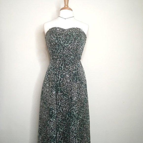 NIKIBIKI Silk Chiffon Animal Print Gown