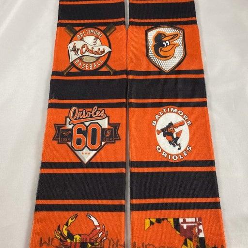 Custom Full Crew Orioles Socks