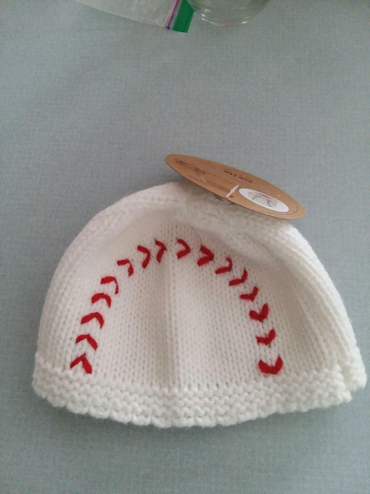 So Dorable knit baby baseball hat