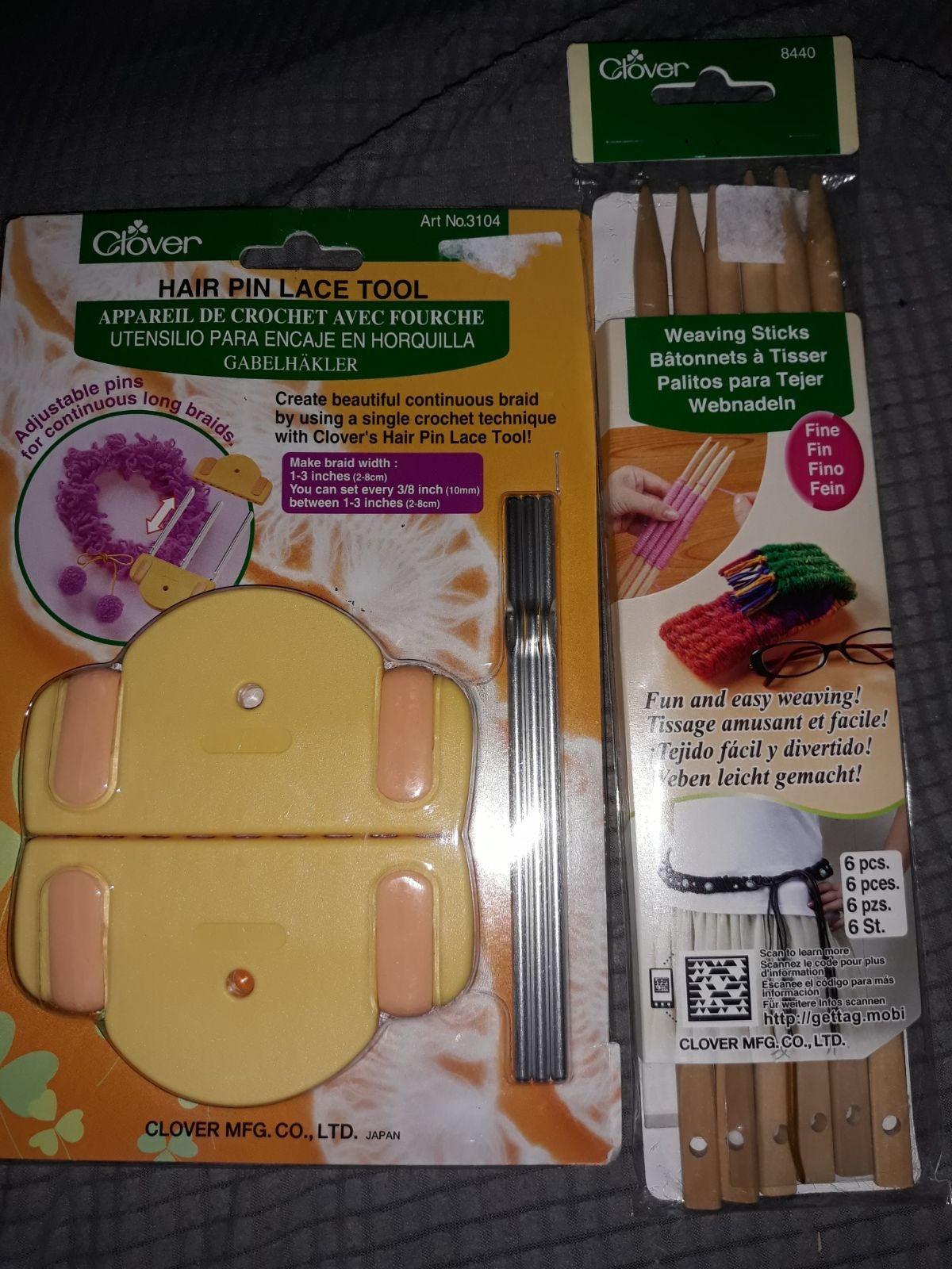 Hair pin lace tool/weaving sticks