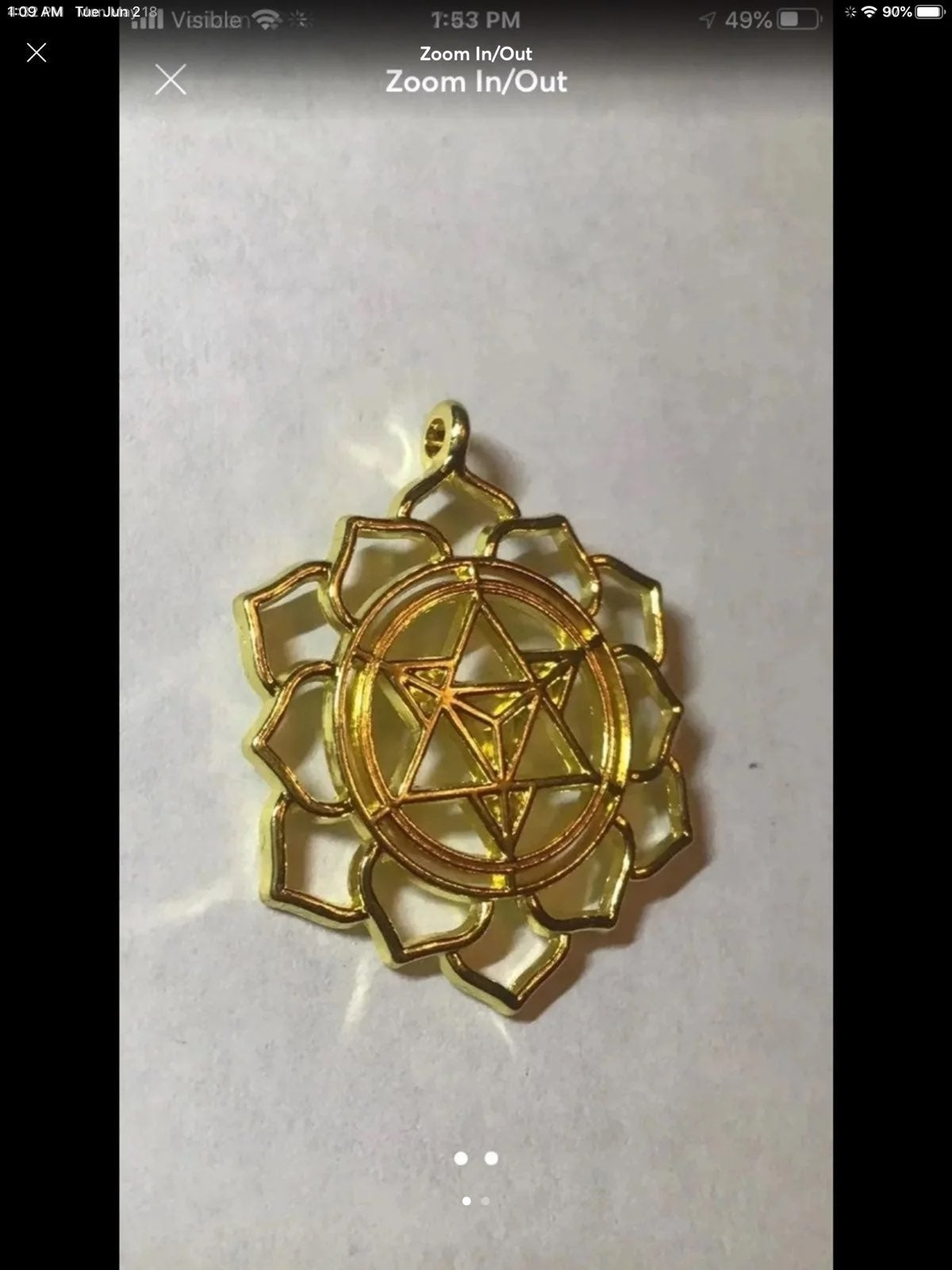 Metatron's cube Merkaba pendant