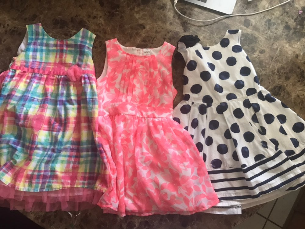 Girls Bundle Dresses and a Overall Size