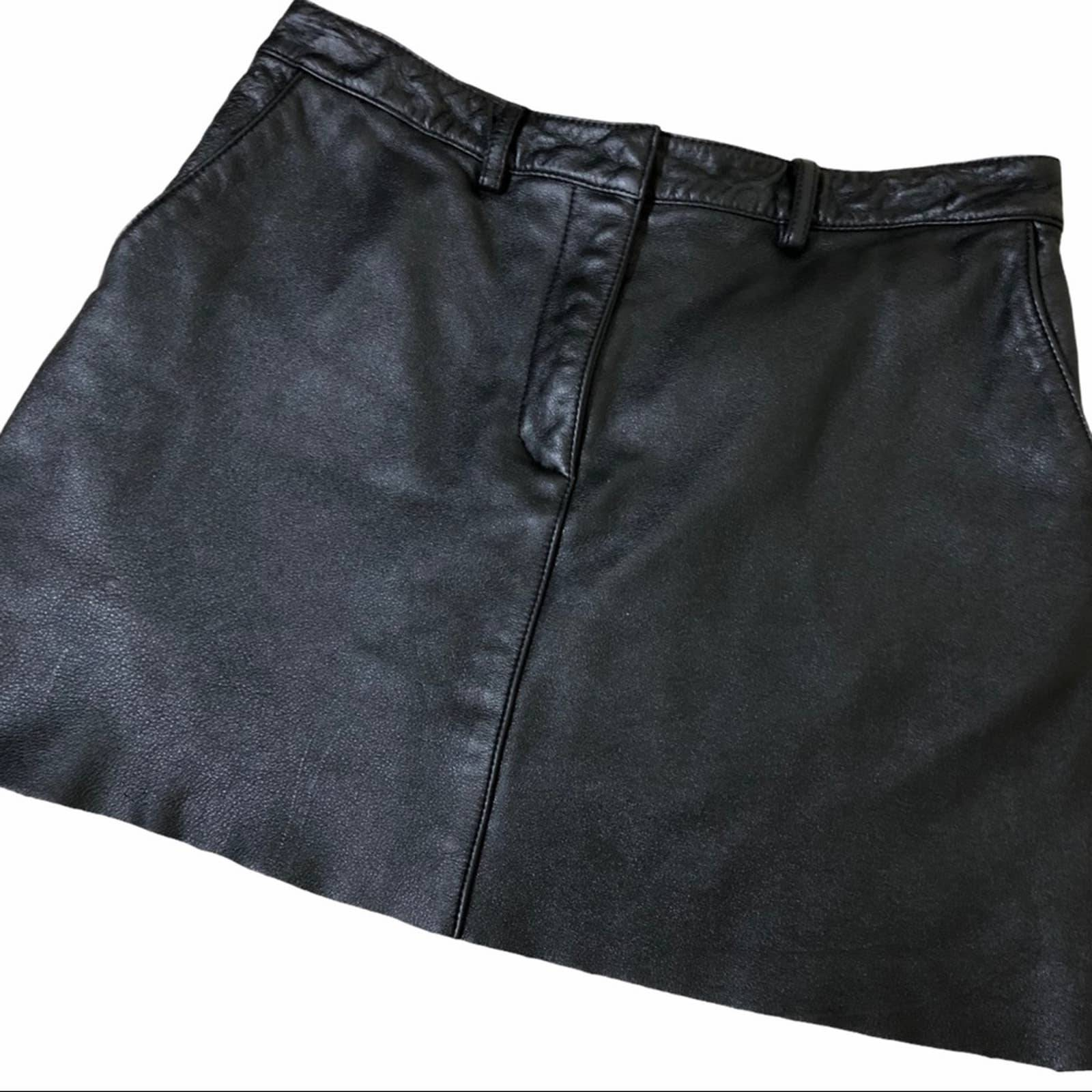 Wilson leather black mini skirt size 10