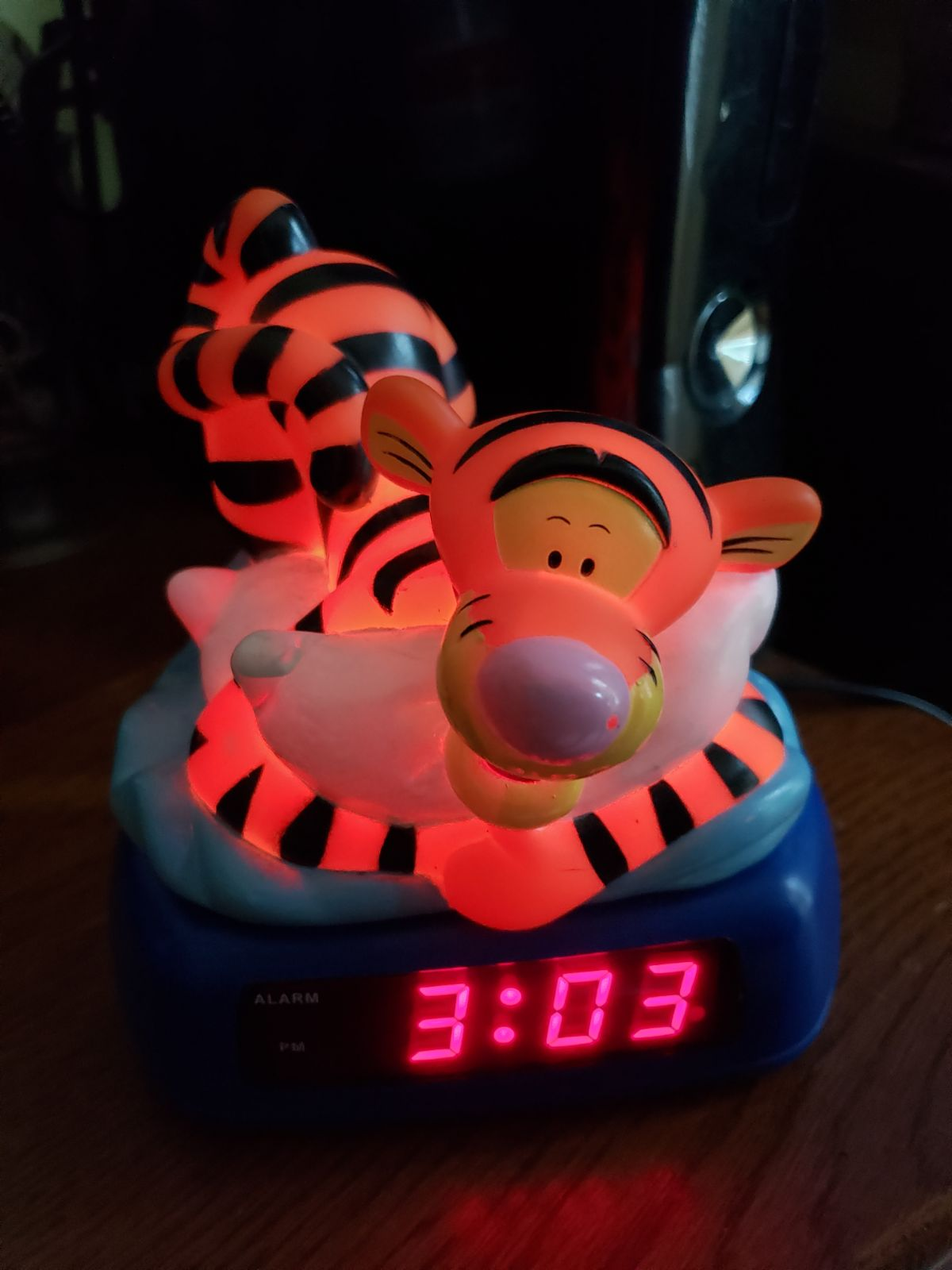 Disney Tigger Alarm Clock Night Light