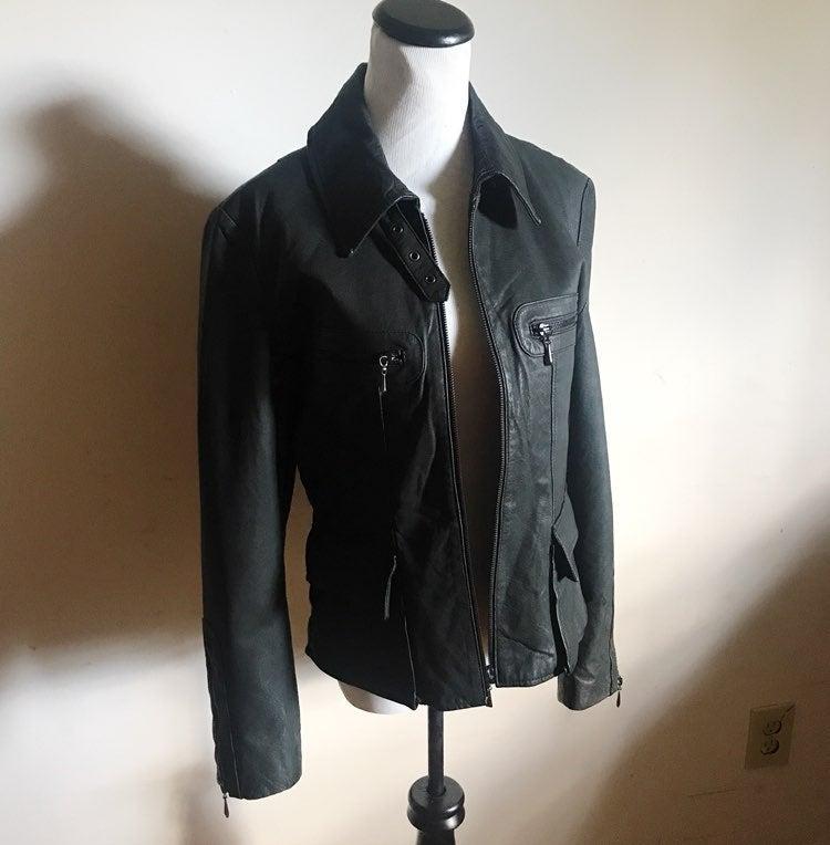Vera Pelle Black Leather Jacket