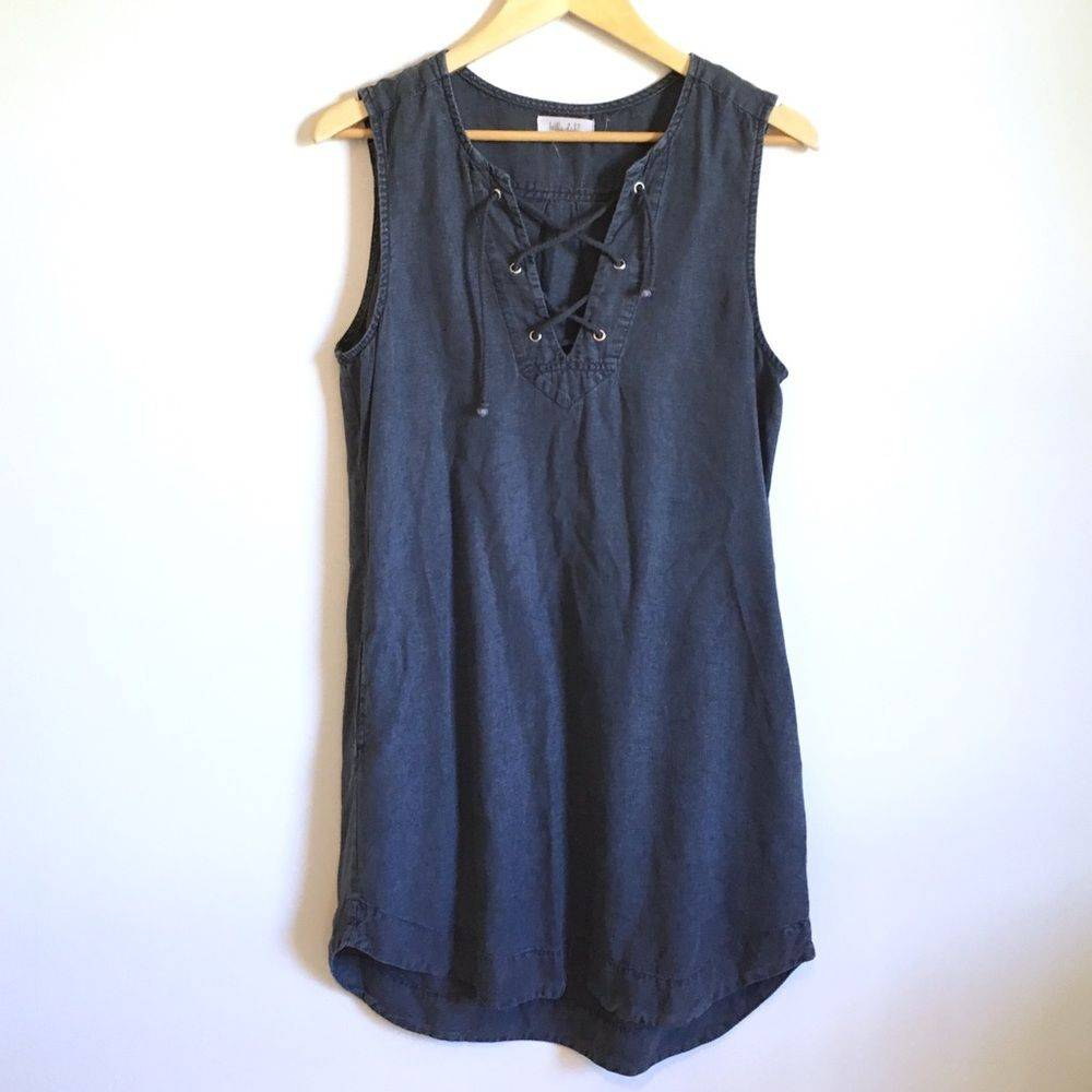 Bella Dahl Dark Wash Denim Shift Dress