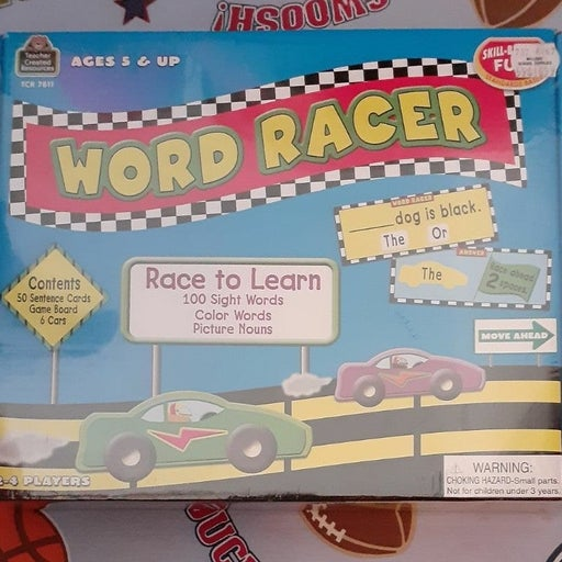 Word Racer Game NEW PS,K,1st Grd