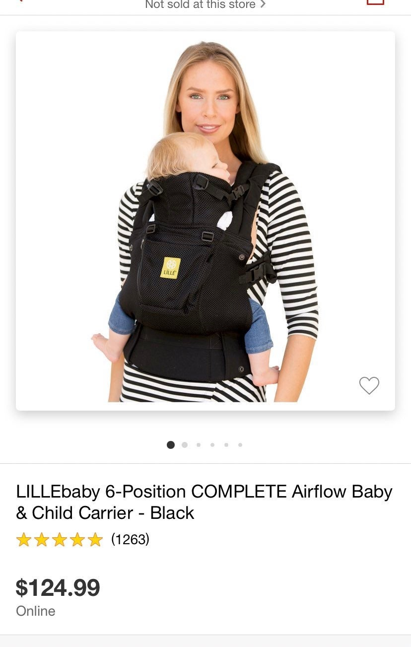 Complete Airflow Lille baby carrier
