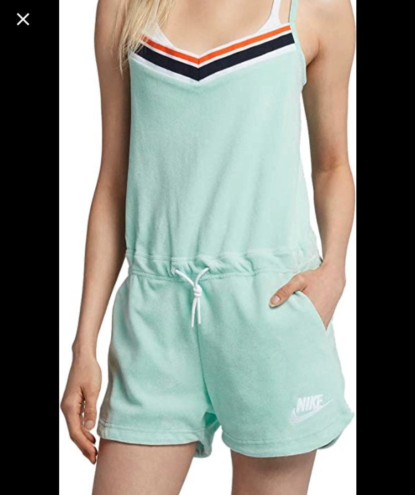 Nike Gym Vintage Romper Jumpsuit Sz M