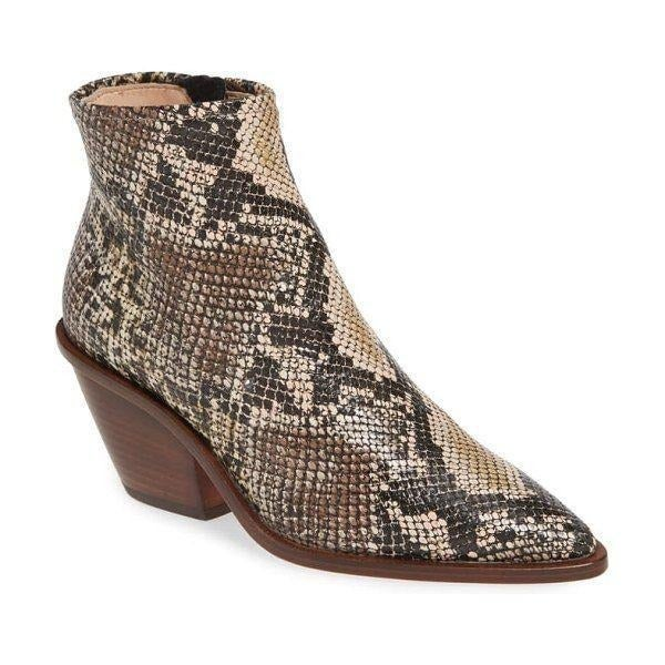 AGL Snake Embossed Leather Ankle Boot