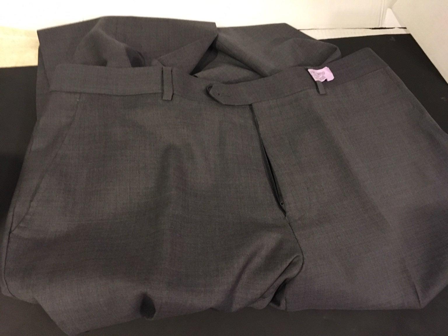 mantoni mens gray pants
