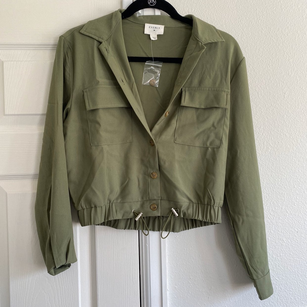 Everly army green long sleeve top