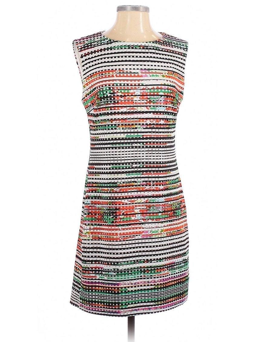 Studio One Laser Cut Colorful Dress