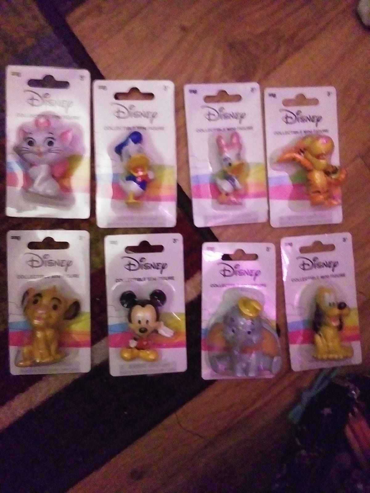 Disney Collectible Mini Figures ×9