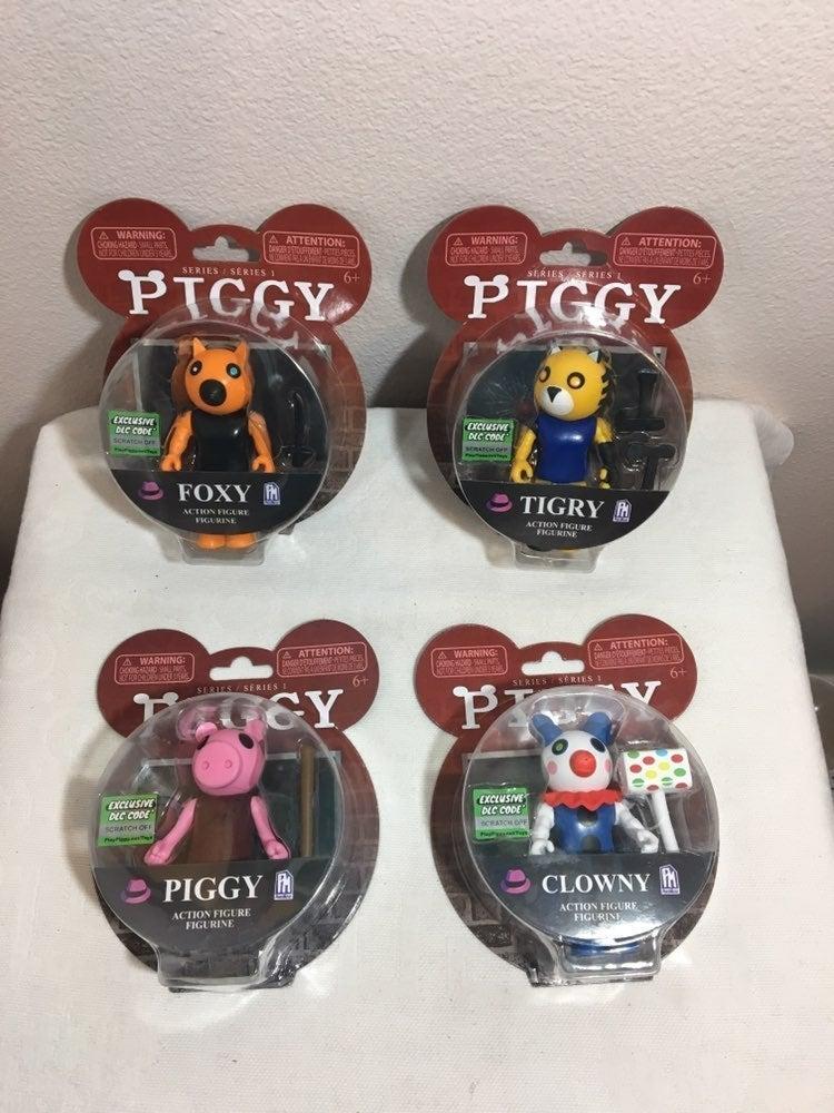 4 New Roblox Piggy Figurines.