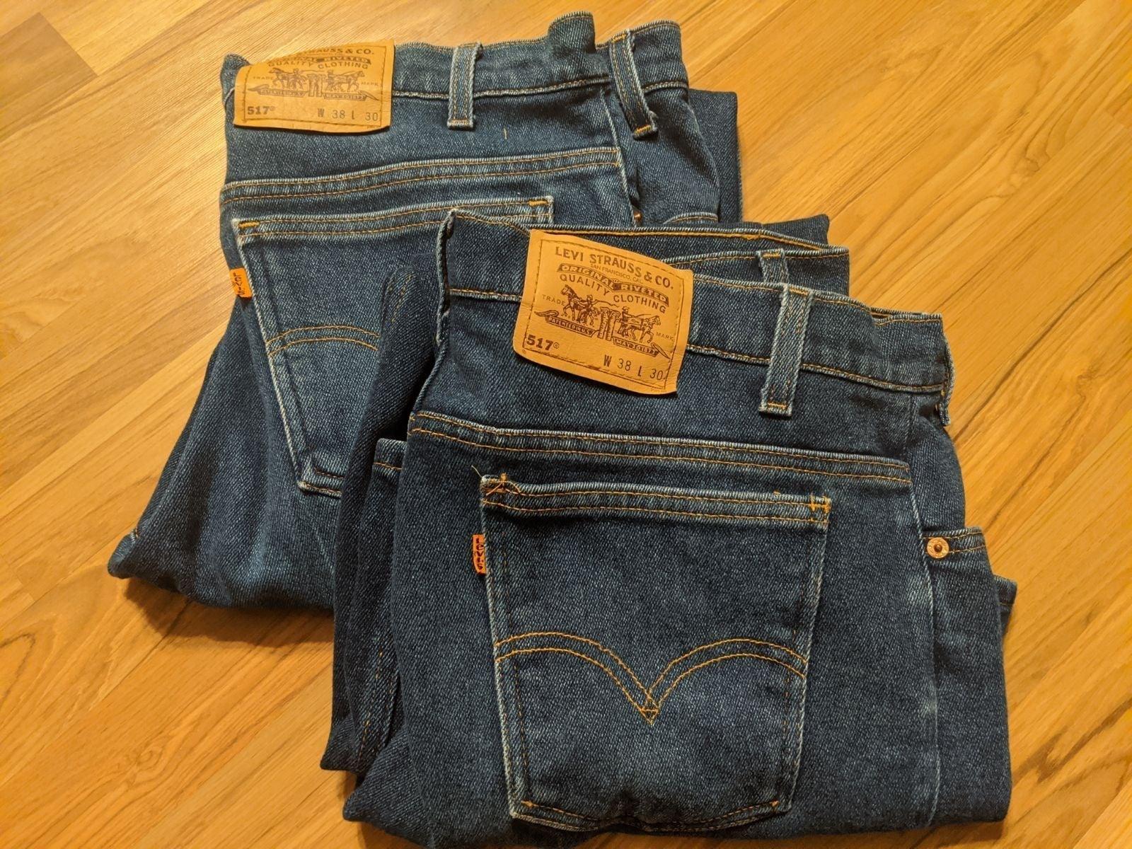 Levi jeans 517 lot of 2, 38x30