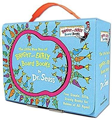 4 Dr Suess Little Blue Box Books
