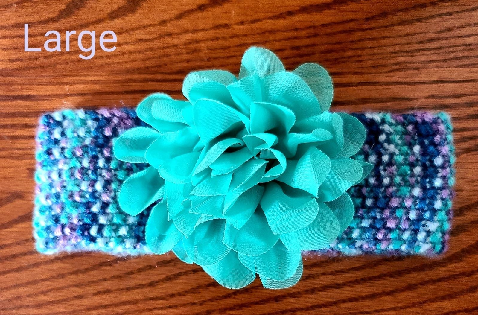 Knit Baby Headband Multicolor Teal and P