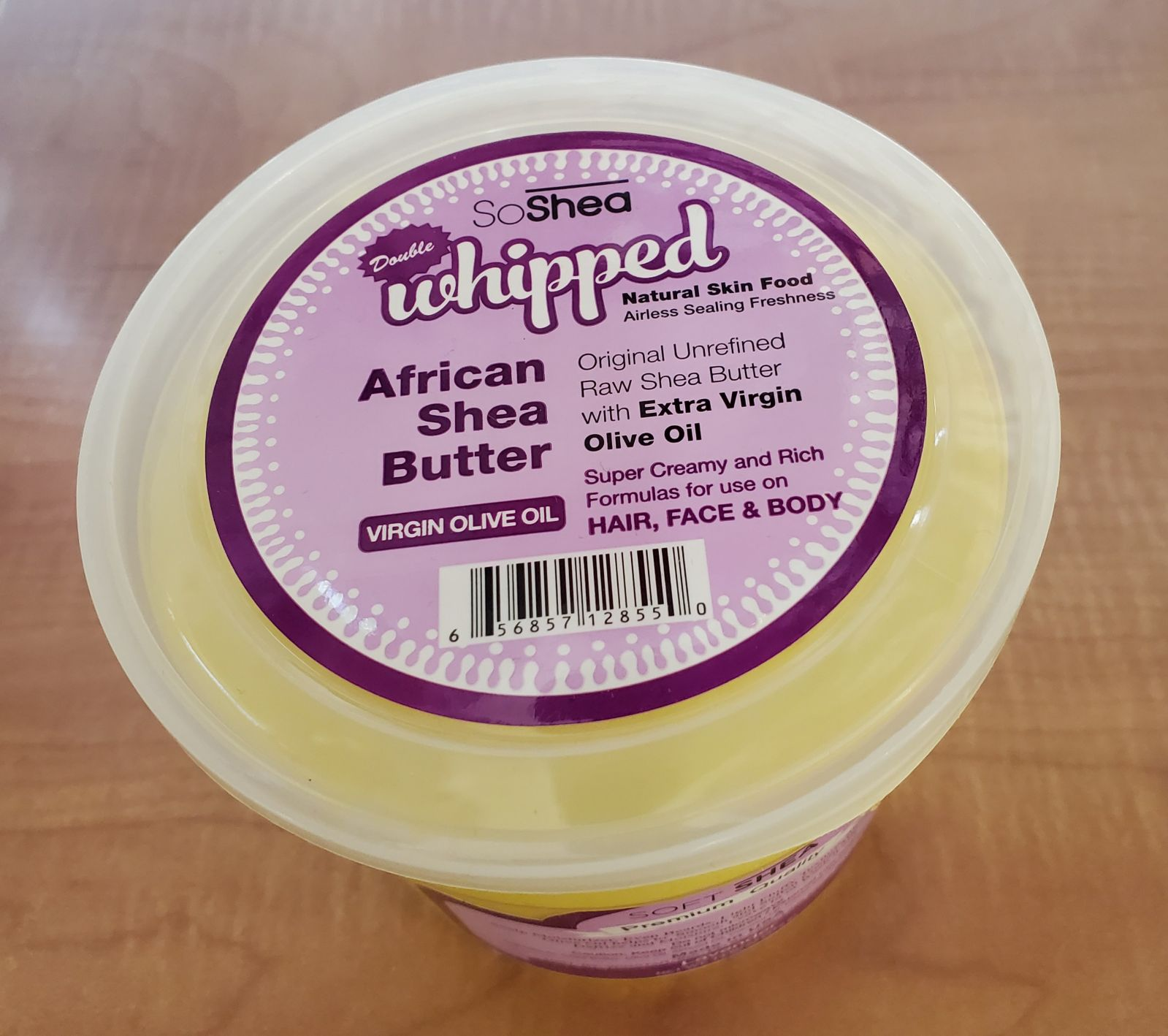 whipped shea butter with lavender