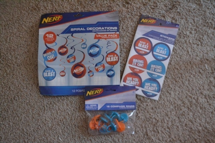Nerf Birthday Party Decorations Supplies