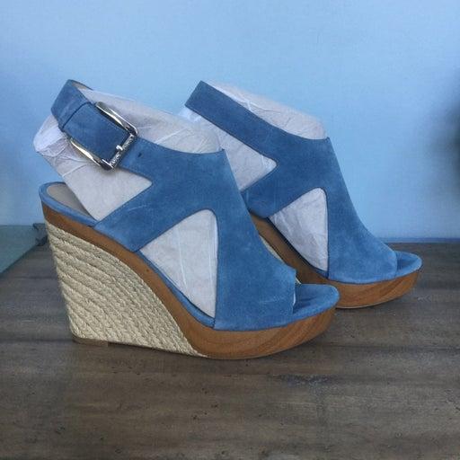 Michael Kors blue suede sandal