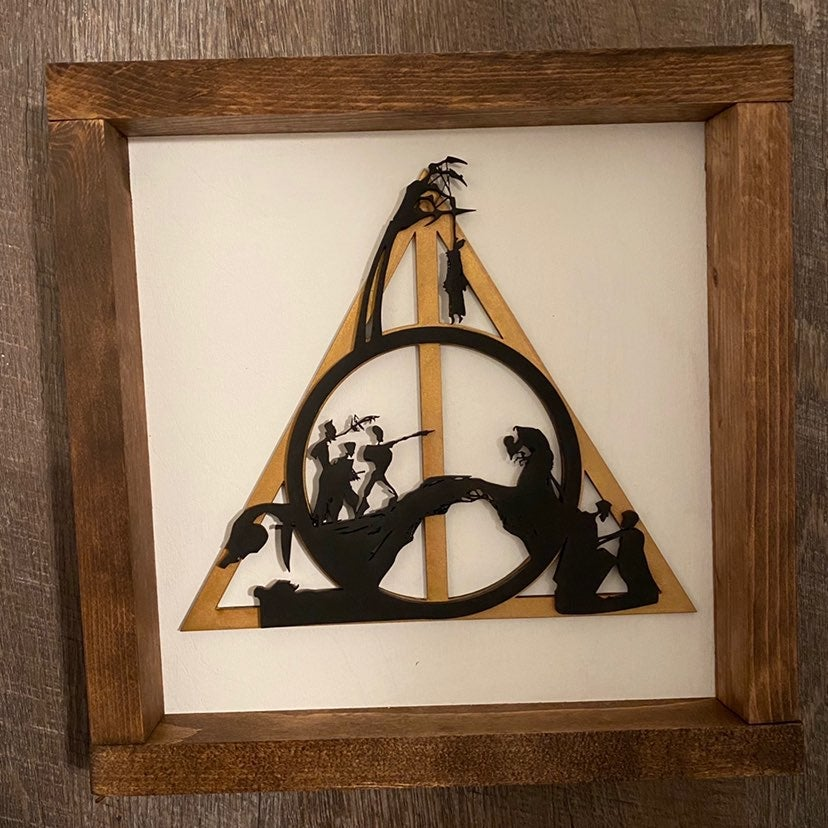 """Deathly hallows 3 brothers 10x10"""""""