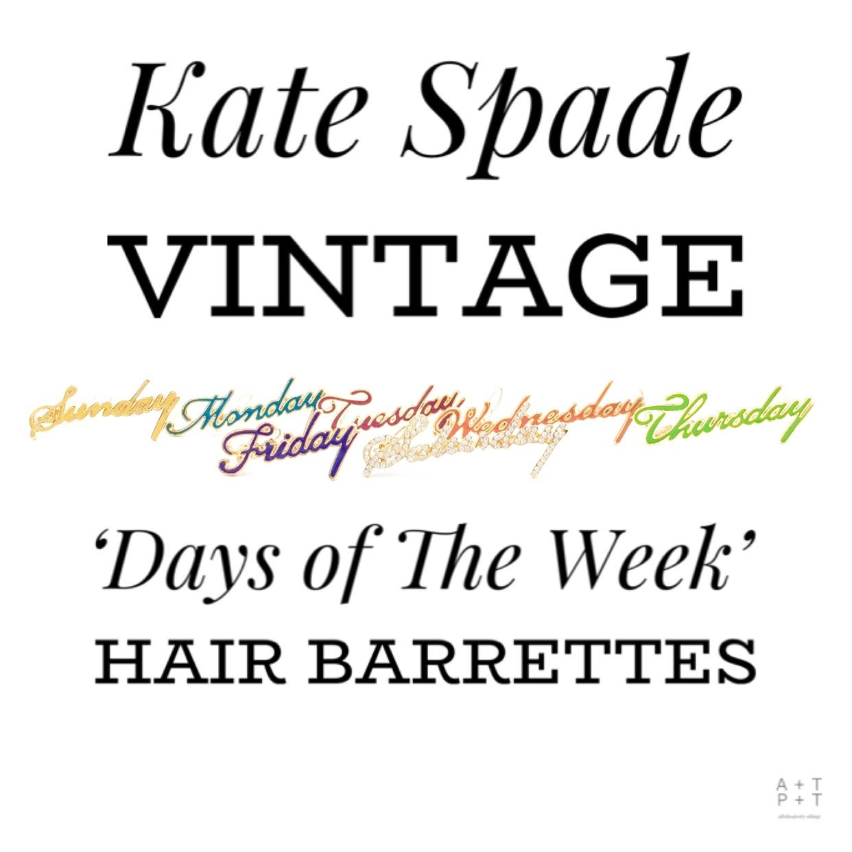 Kate Spade Vintage Hair Barrettes