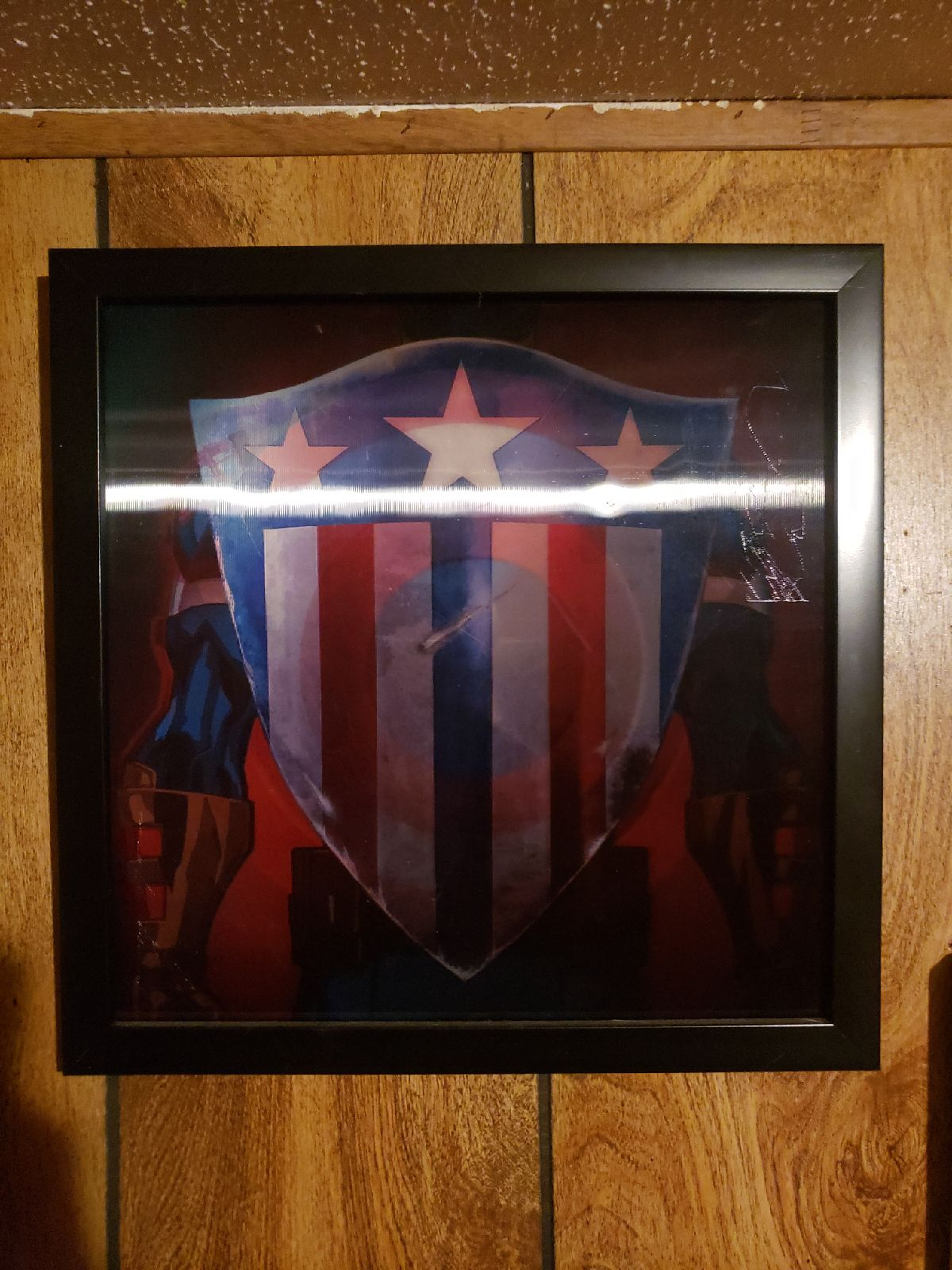 Holligraphic captain america picture