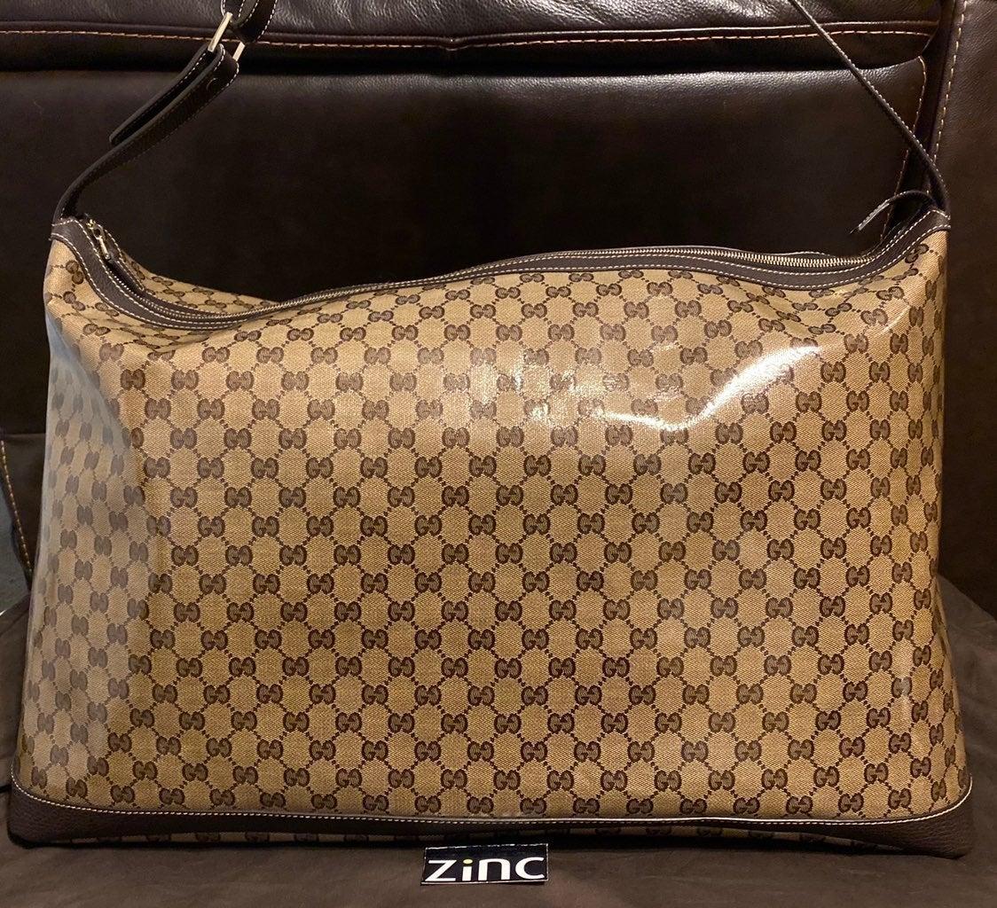 Gucci GG Crystal Beige Duffel Bag