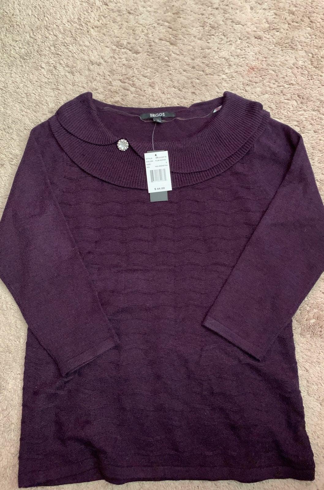 Briggs plum detail sweater
