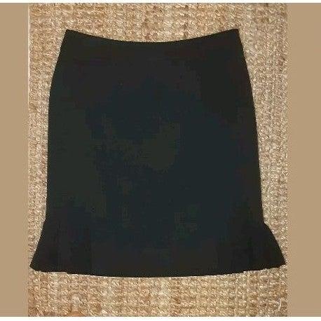 Tahari Black Trumpet Skirt