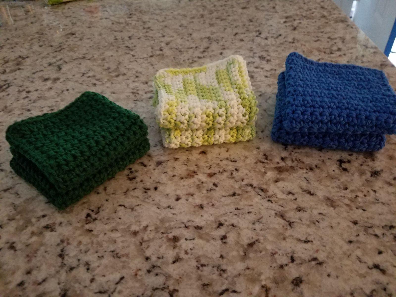 Set of 4 handmade crocheted dishcloths