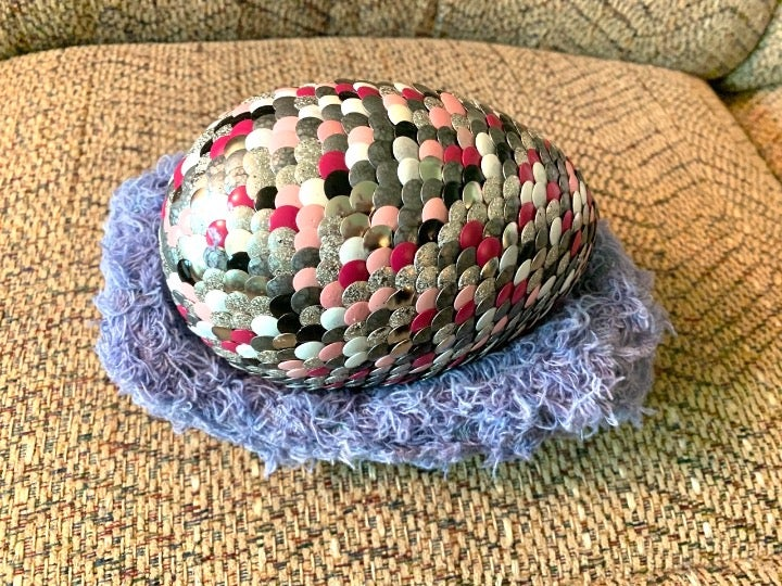 "Large 7"" Speckle Dragon Egg & Basket"