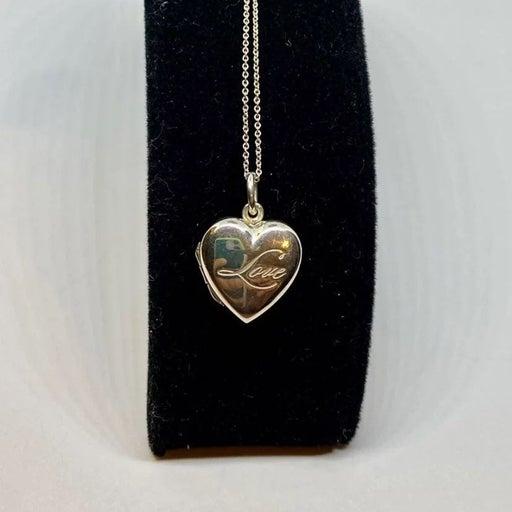 Tiffany and Co. locket heart necklace