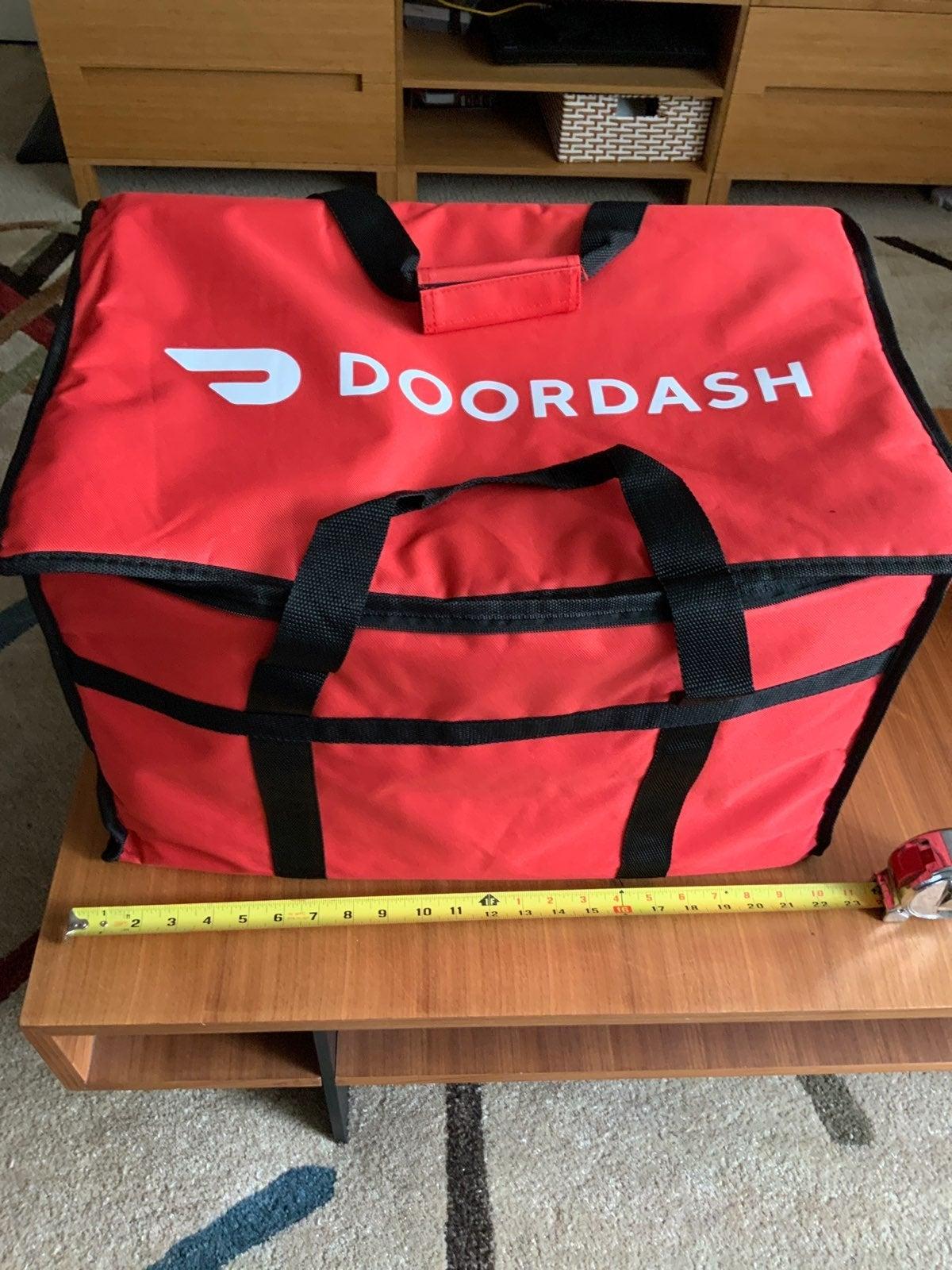 "DoorDash 22""W X 13""H X 13"" D Tote bag"