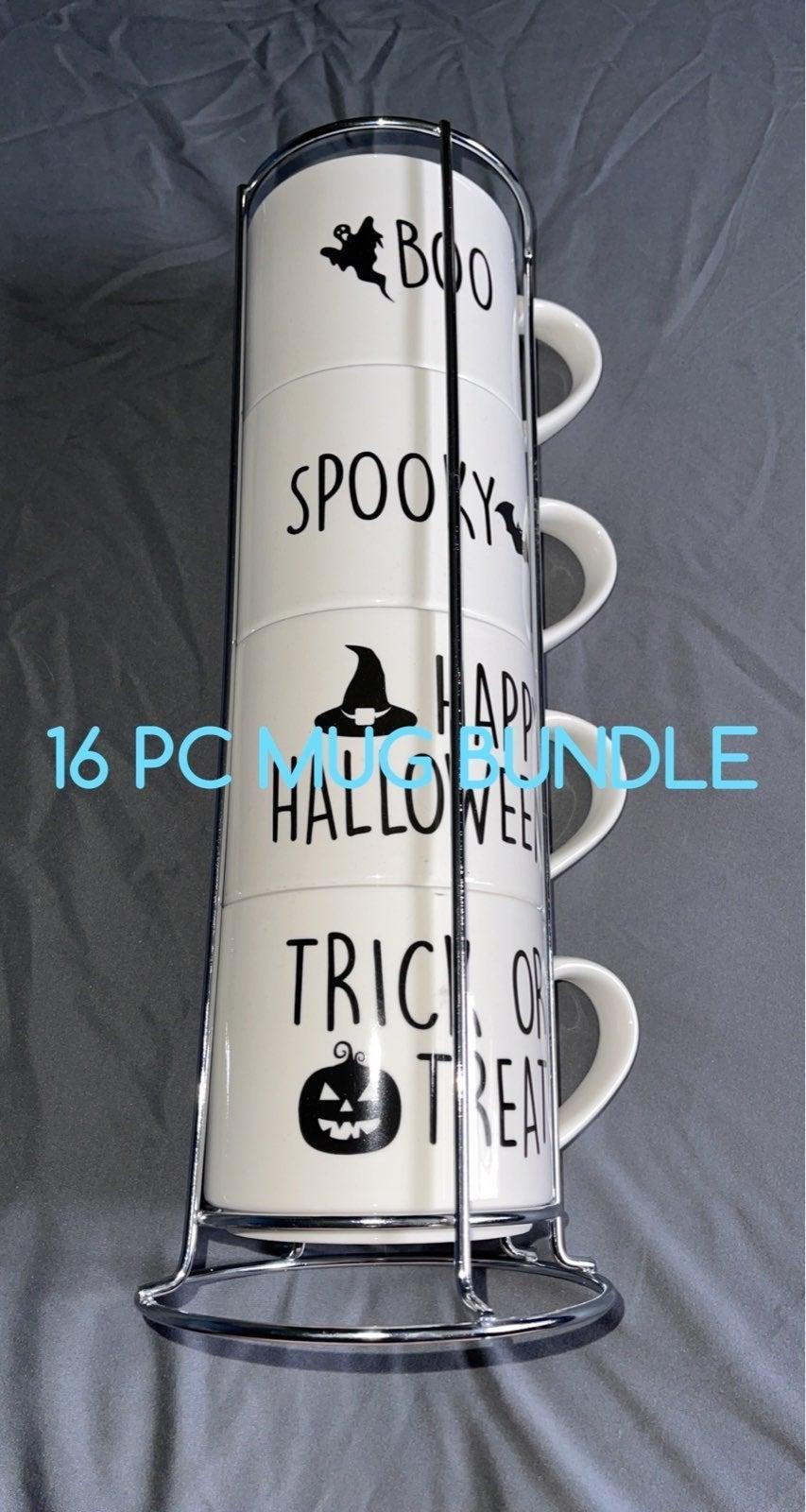 BUNDLE 16 pc Halloween Mugs