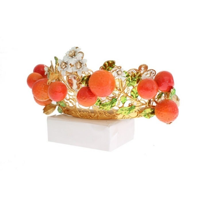 DOLCE & GABBANA MULTICOLOR ORANGE TIARA