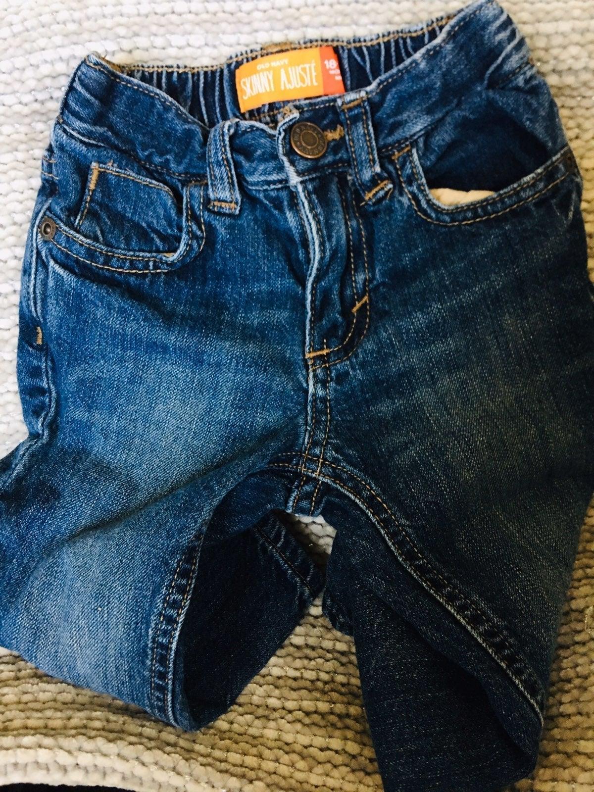 Toddler boy jeans, onesie & jacket