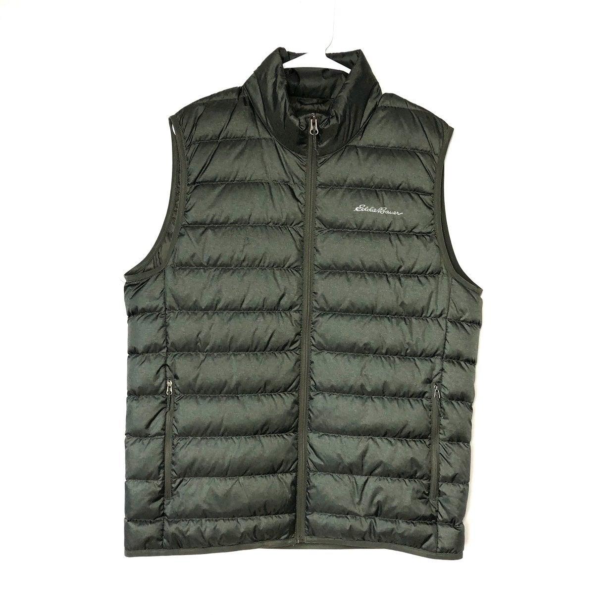 Eddie Bauer Down Green Puffer Vest