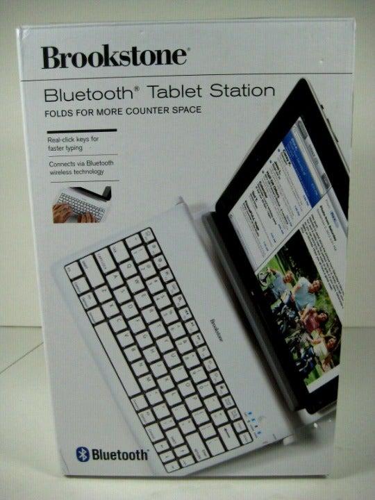 Brookstone Tablet Keyboard Station Bluet