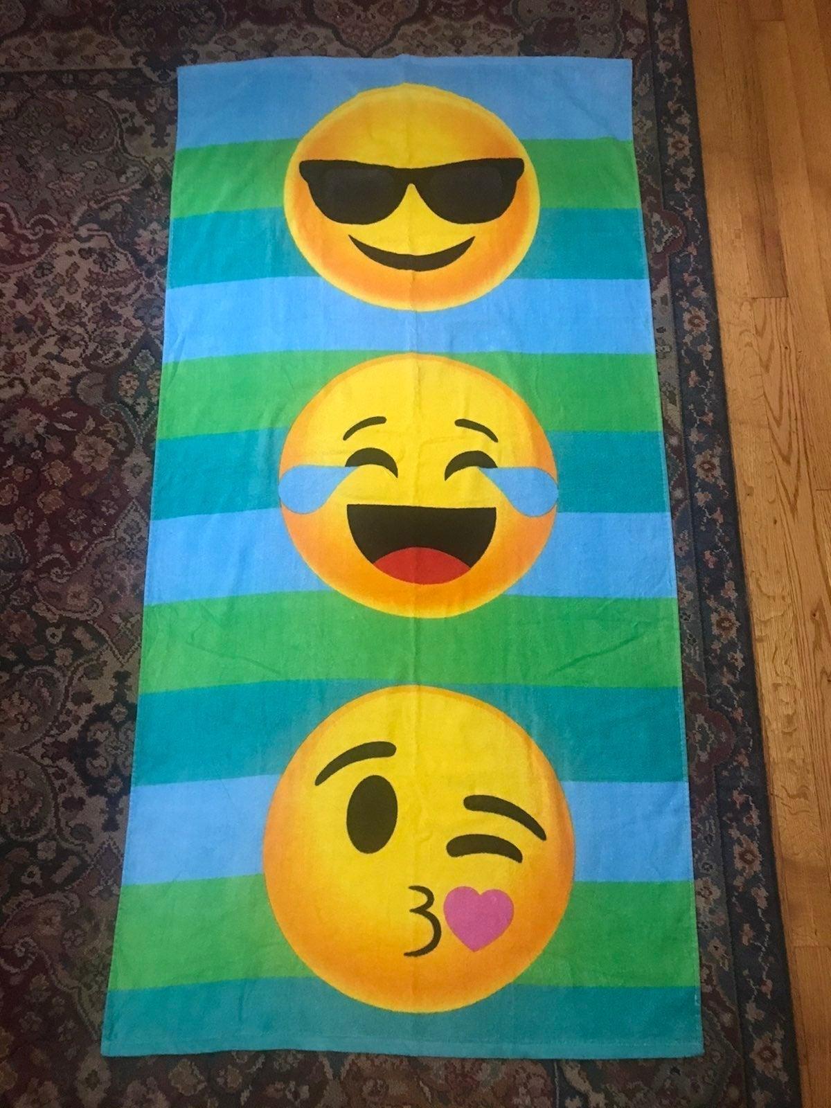 NEW Beach Towel - Emoji