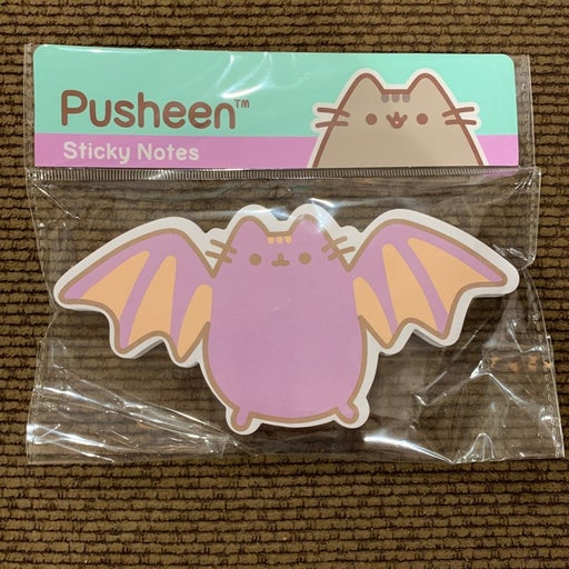 Bat Pusheen sticky notes
