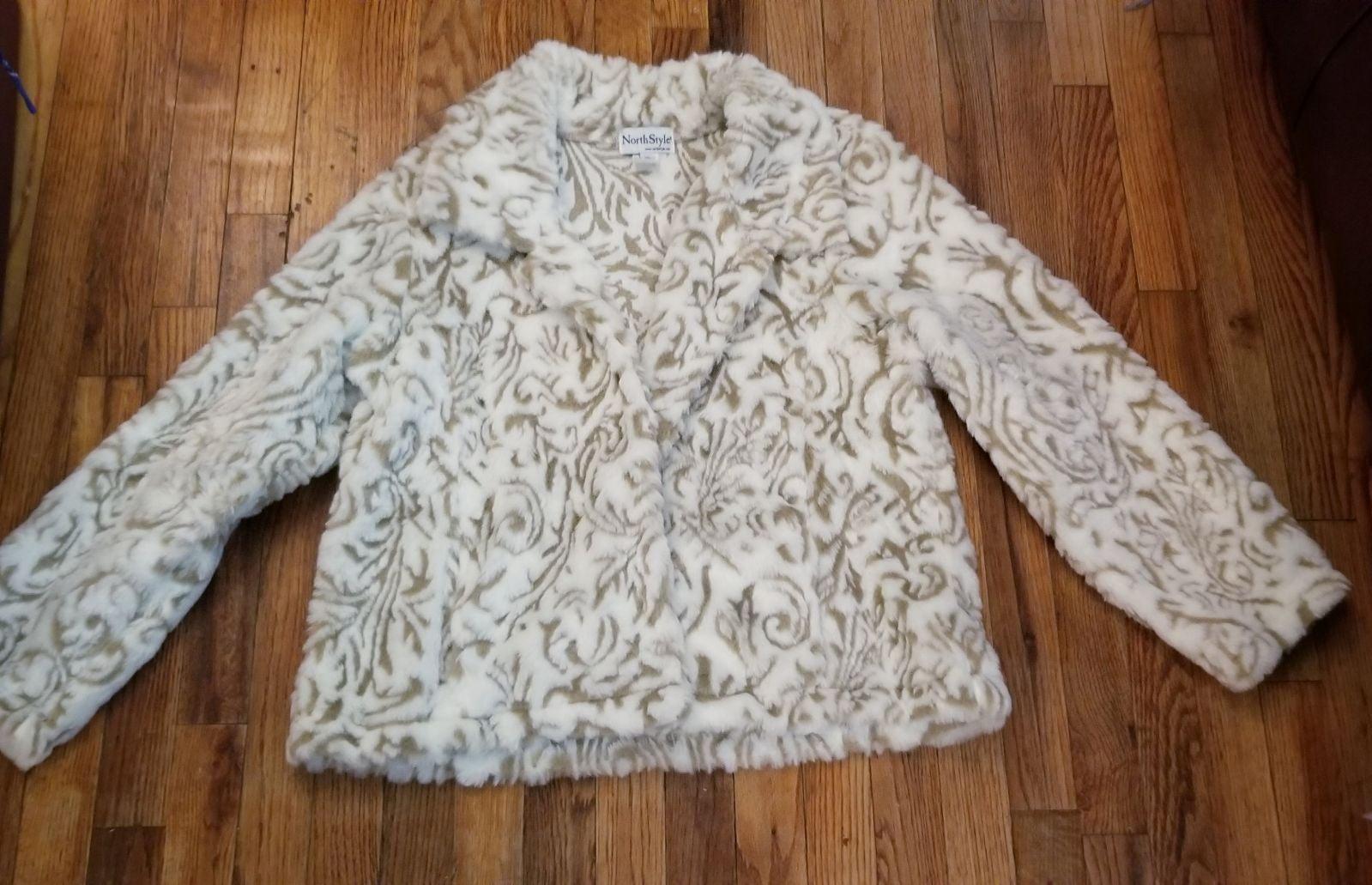 NORTH STYLE Faux Fur Jacket XL