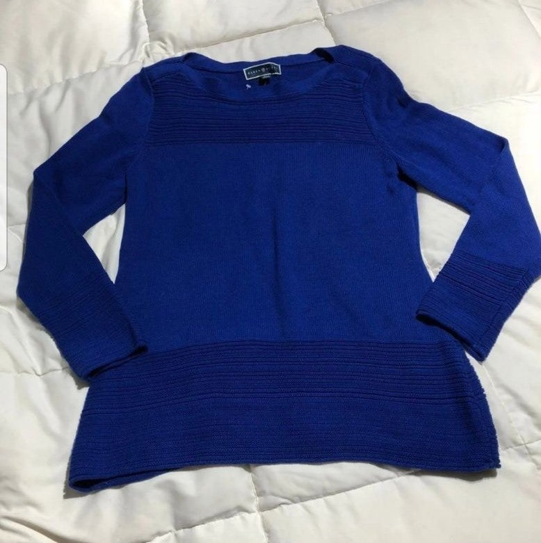 NWT, Long Sleeve blue tunic sweater