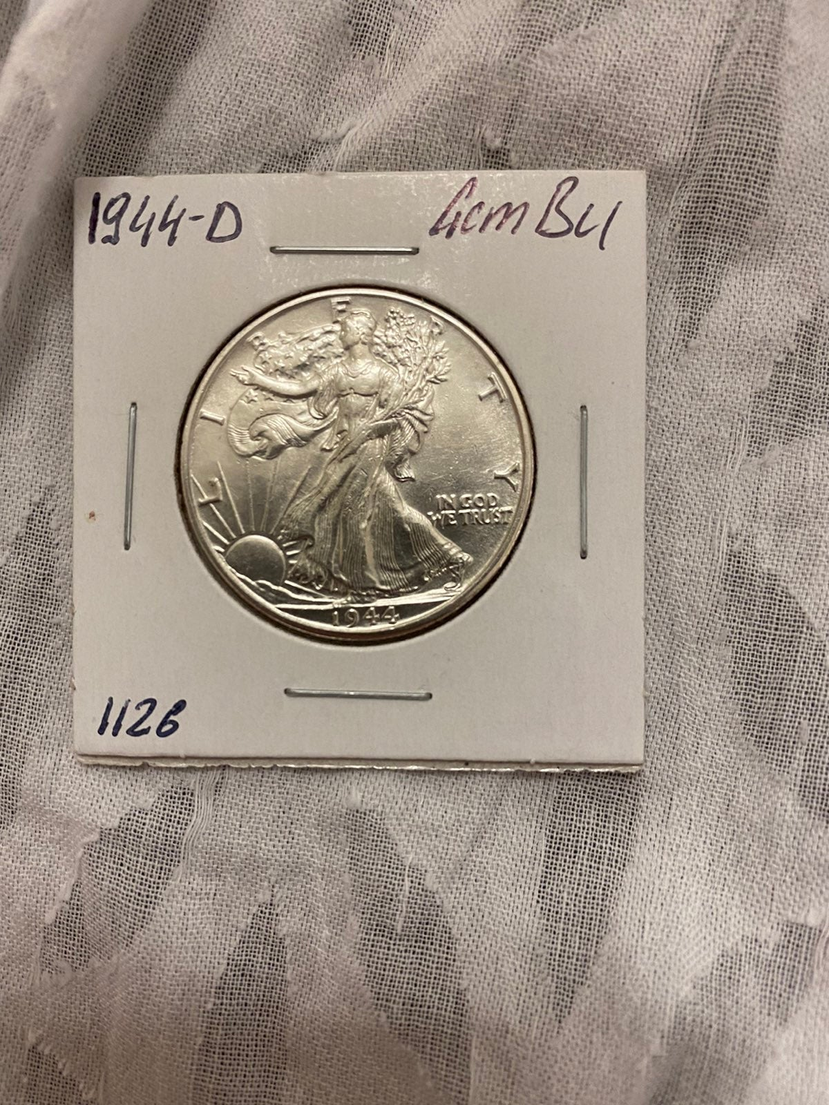 1944 D Walking Liberty Half Dollar - Gem